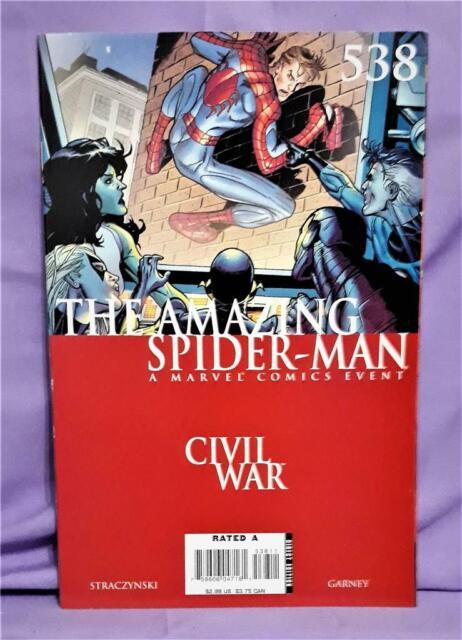 J. M. Straczynski Civil War AMAZING SPIDER-MAN #538 Ron Garney (Marvel, 2007)!