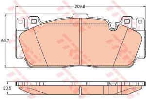 TRW-Avant-Plaquettes-de-frein-Set-GDB2020-Brand-new-genuine-Garantie-5-an