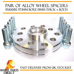 Hubcentric 20mm Alloy Wheel Spacers For Audi A4//S4//RS4 5x100//112 57.1 Pair