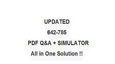 Maintaining Cisco Service Provider Quality of Service (MSPQS) Exam QA+SIM