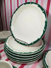 Vintage 1950s Syracuse China Hotel Restaurant Ware Wintergreen 4pc Dinner Plates