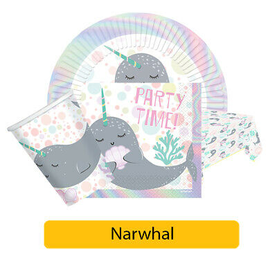 Colour 8 Pcs amscan 9904596 Narwhal Loot Bags