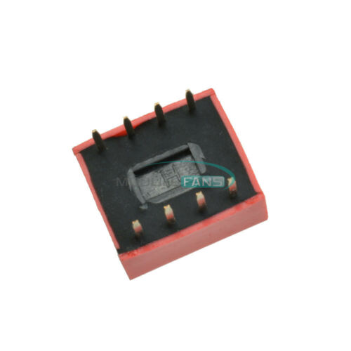 20PCS 2.54mm 4-Bit 4 Position Way DIP Red Pitch Slide Type Switch Module
