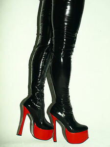 Latex Rubber Ballet High Boots Size 6 16 Heels 8 1 20cm