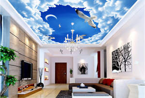 3D White Cloud Bird 82 Ceiling Wall Paper Print Wall Indoor Wall Murals CA Carly