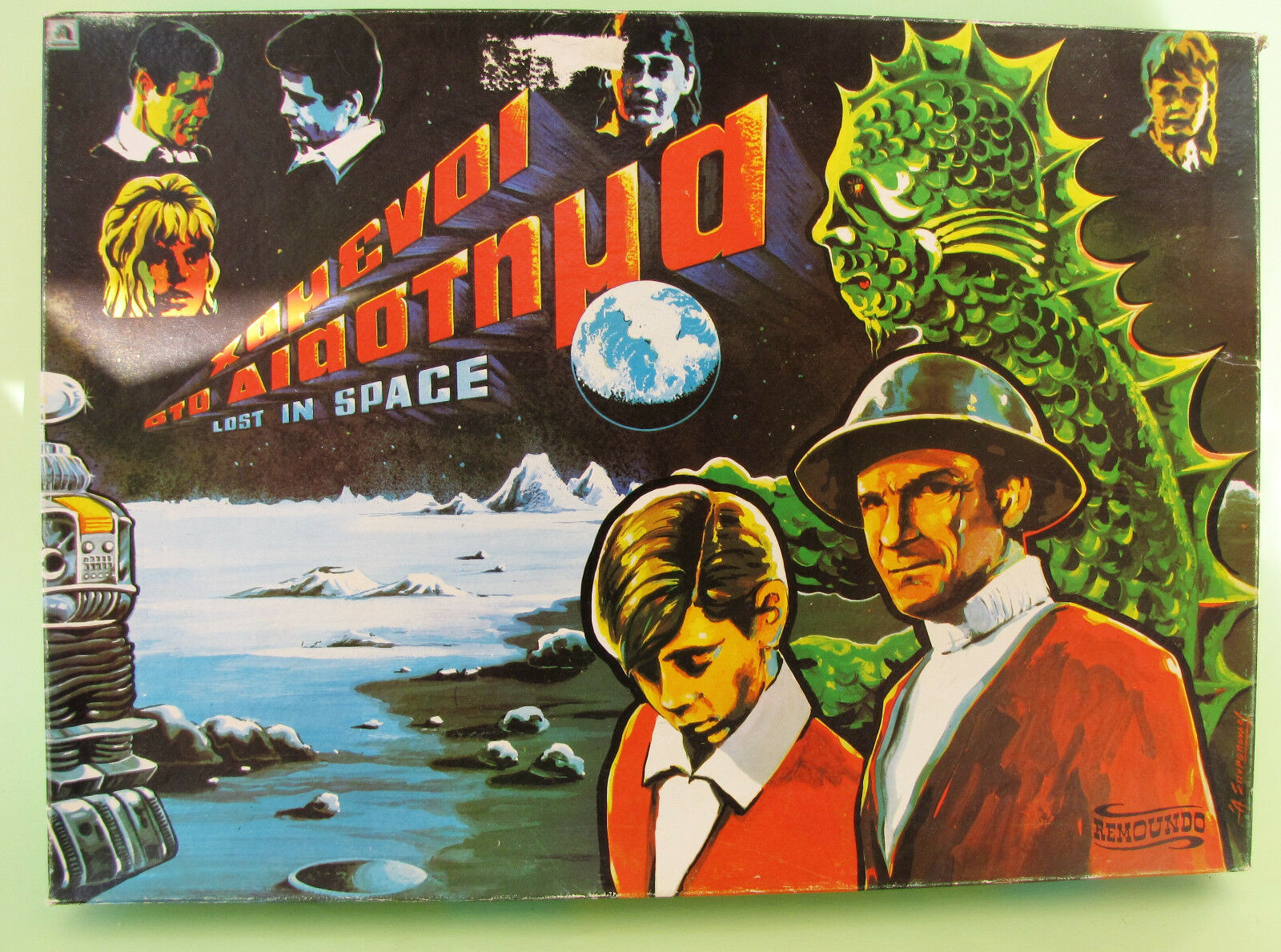 Top Rare Geniue Greek Board Game Lost In Space Remoundo 60's
