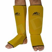 ARD CHAMPS™ Shin Instep Protectors, Guards Pads Boxing, MMA Muay Thai YELLOW