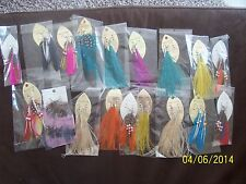 Handmade Soft Feather Dangle Hook Evening Earrings 18 pairs
