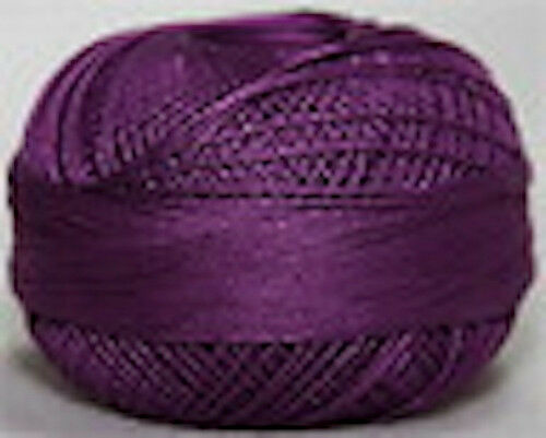 Lizbeth Cordonnet 100% Egyptian Cotton Thread Size 20 Color 645 Dark Grape