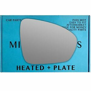 Right-Driver-side-wing-mirror-glass-for-Renault-Megane-mk4-2016-On-heated-plate