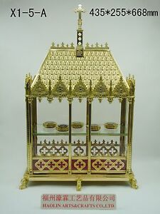 Details about +Brass Large monstrance Reliquary for Church or  home+relic+gift 26 3