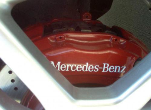 Mercedes Benz HI TEMP brake caliper decals stickers C E S class SLK CLS CL