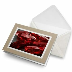 Greetings-Card-Biege-Deep-Red-Uncut-Ruby-Crystals-3613