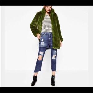 7642210d2d Details about Womens Zara Basic Denim Super Distressed Shorts Over Jeans