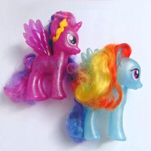 My Little Pony Mlp 6 Fashion Style Rainbow Dash Twilight Sparkle Glitter Ebay