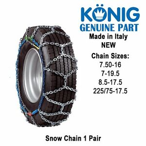 snow chain size chart