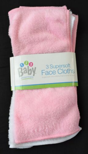 Super Soft Baby Face Cloths Pack Of 3 Soft Microfibre Perfect for Sensitive Skin
