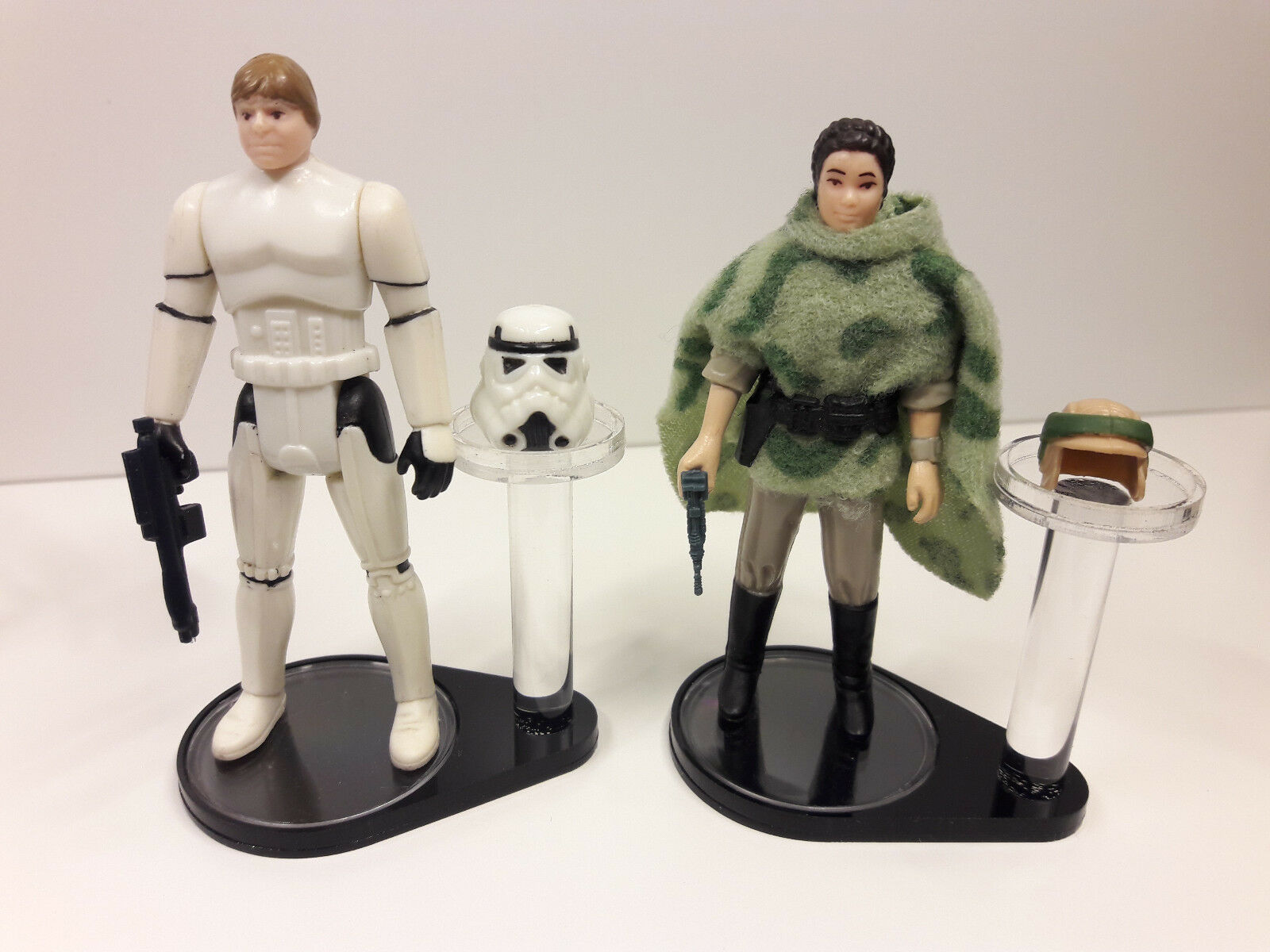 4 x Vintage Star Star Star Wars Figure + Helmet Stands - Kenner (DISPLAY STAND ONLY) a1e671
