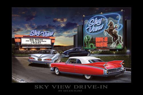 Sky View Drive-In  by Helen Flint Poster Print 24x36