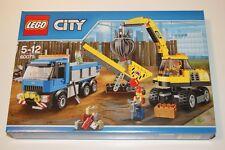 LEGO CITY 60075 L'EXCAVATRICE ET LE CAMION NEUF