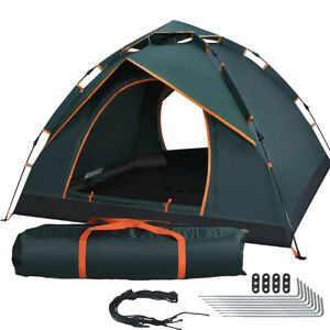 3-4 Man Person Pop Up Tent Family Festival Camping Auto Hiking Beach Canopy Tent