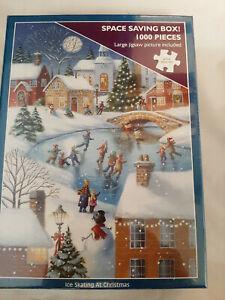 Pattinaggio sul Ghiaccio a Natale Puzzle 1000 PEZZI NUOVO E SIGILLATO