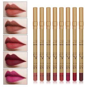 8-un-set-Pro-impermeable-de-larga-duracion-Lapiz-Labial-Pluma-Mate-Delineador-De-Labios-Maquillaje