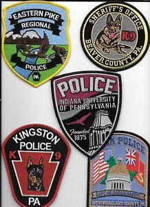 "shoulder police patch Pennsylvania Elizabeth Borough 3.75/"" x 5/"" fire"