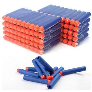 100pcs For NERF N-Strike Refill Kids Toys Gun Bullet Darts Round Head Blasters