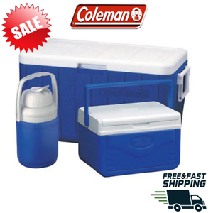 Coleman 48-Quart Cooler avec 5-Quart Cooler 1//3 Gallon Carafe NEUF