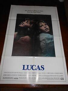 LUCAS (1986) CHARLIE SHEEN &  WINONA  RYDER ORIGINAL ONE SHEET POSTER