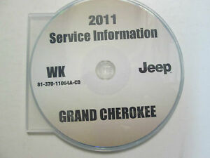 2011 jeep grand cherokee service shop repair manual cd dvd brand new factory. Black Bedroom Furniture Sets. Home Design Ideas