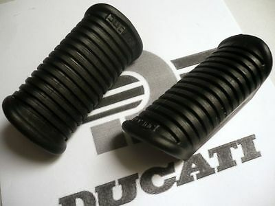 as NOS Ducati Rider Foot Peg Rubber SET very early bevel twin 750 roundcase rest