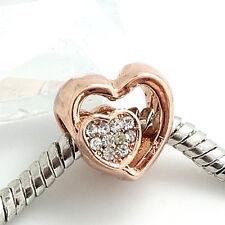 Hot  1pcs gold KC  European Charm Bead Fit Necklace Bracelet jewelry  SH279