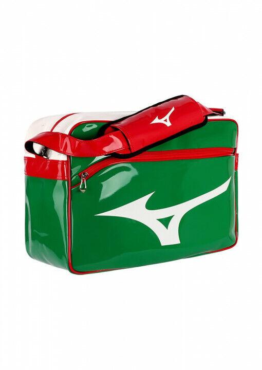 Umhängetasche, Mizuno Enamel Tasche,  grün   rot   weiß