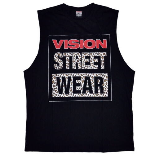 Vision Street Wear Men/'s Leopard Logo Muscle Tee Tank Top