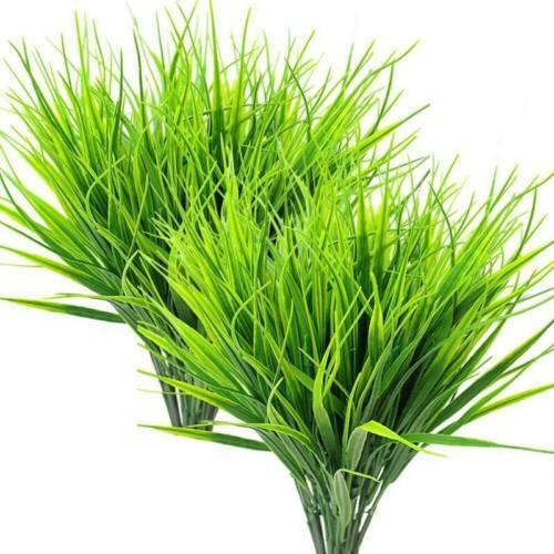 8 Pcs Artificial Outdoor Plants,Fake Plastic Greenery Shrubs Wheat Grass O W4C7