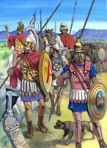 PLAQUE MÉTAL   bataille  guerrier antique Grèce  30 X 20 CM