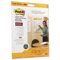 Post-it Self Stick Wall Easel Unruled Pad 20 X 23 White 20 Sheets 4 Pads/carton on sale