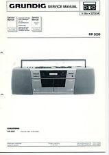 Grundig Service Anleitung Manual RR 2000   B372