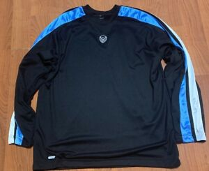 c265249edd835 Details about Vintage Nike Black And Blue Crewneck Sz XL Sweater Training