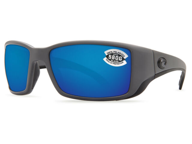 36d3fe0a956 Costa Del Mar Blackfin Matte Gray   Blue Mirror 580 Glass 580G - NEW