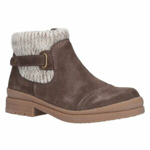Style Lined Foster Boots Rummy Warm Womens Taupe Casual Fleet Suede Ankle amp; Col FqzxB