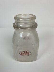 VINTAGE-HALF-PINT-GLASS-MILK-CREAM-BOTTLE-AlFARS-CREAMERY-PALM-BEACH-FLORIDA