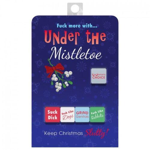 UNDER THE MISTLETOE DICE Rude ADULT GAME Christmas Sex Aid UK Seller Fast POST