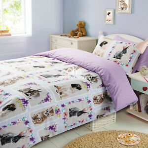Image Is Loading Duvet Cover With Pillowcase Bedding Set Pet Love
