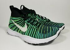 Nike Free Train Force Flyknit Training Shoes 833275-301 Green Black Mens Size 8
