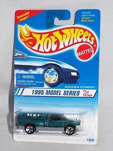 Hot Wheels 1995 Model Series 348 Dodge Ram 1500 Truck Green Hole Five Wheels