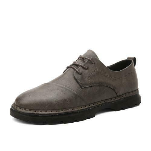 Details about  /Mens Business Work Office Lace up Round Toe Casual Low Top Faux Leather Shoes L