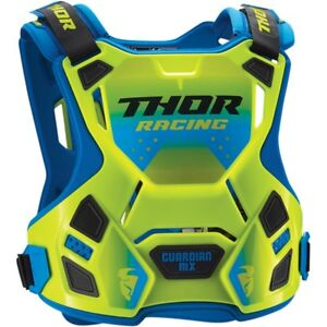 Thor-Youth-Guardian-MX-Children-039-s-Chest-Armour-Body-Protection-Green-Blue